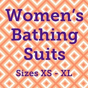 Women's Bathing Suits (sizes XS-XL)